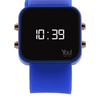 You Watch Saxe Blue Buttons Unisex Kol Saati