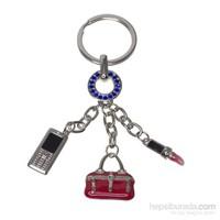 Nektar C008016 3Lü Anahtarlık Telefon Çanta Ruj