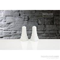 iHouse Yg28 Porselen Tuzluk Biberlik Beyaz