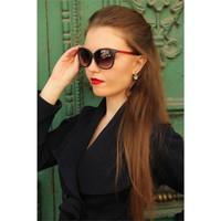 Morvizyon Clariss Marka Kırmızı Detaylı Siyah Şık Tasarımlı Bayan Gözlük
