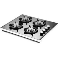 Luxell 40 TSHDF 4 Gözü Gazlı Siyah Cam Setüstü Ocak-LPG