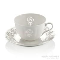 Neva N1017 Rosemary Dantel S 12 Parça Beyaz Kahve Takımı