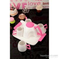 Royal Windsor Özel Tasarım Porselen Lüx Silikon Tutacaklı Çay Sunum Seti