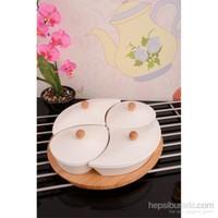 Royal Windsor Bambu Standlı Lüx Porselen Kahvaltı Seti