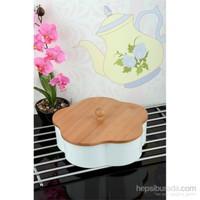 Royal Windsor Papatya Model Bambu Kapaklı Lüx Porselen Saklama Kabı