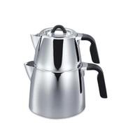 Korkmaz A080 Esta Çaydanlık Takımı-Kilitli Kapak Sistemi