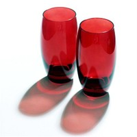Joy Glass 2'li Kırmızı Meşrubat Bardağı