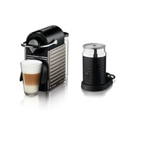Nespresso Pixie C65 Titan Kahve Makinesi & Aeroccino 3 Süt Köpürtücü