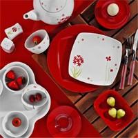 Kütahya Porselen Medusa 6 Kişilik 43 parça 655417 Desen Kahvaltı Takımı