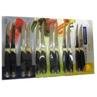 Tramontina Sebze-meyve-et Bıçağı SETİ-12 Adet (lacivert-Krem)(multıcolor) (23529-215)