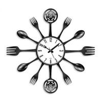 Clocktime By Cadran 40X40 Çatal Kaşık Mutfak Saati Ct123