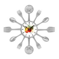Clocktime By Cadran 40X40 Çatal Kaşık Mutfak Saati Ct124