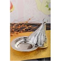 Royal Windsor Kubbe Şekil Kabartmalı Gümüş Lokumluk - Büyük
