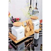 Royal Windsor Bambu Standli Lux Porselen 9 Parça Baharat Seti