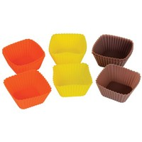 T-Design Silikon 12´Li Kare Çikolata ve Kek Kalıbı Sm03m007