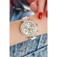 Morvizyon Clariss Marka Beyaz Plastik Ve Metal Tasarımlı Bayan Saat