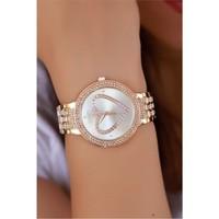 Morvizyon Clariss Marka Bronz Renk Metal Tasarımlı Bayan Saat