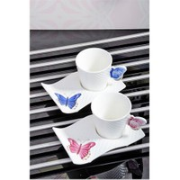 Royal Windsor Kelebek Serisi Porselen Lüx 2'Li Fincan Seti