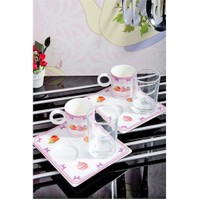 Royal Windsor Porselen Lüx 6 Parça Cup Cake Kahve Keyif Seti
