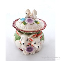 Fidex Home Kurabiye Saklama Kabı-Tavşan