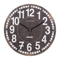 Clockmaker By Cadran Retro Vintage 30X30 Mdf Duvar Saati Cmm95