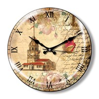 Clocktime By Cadran Dekoratif Bombeli Cam Duvar Saati Ct10
