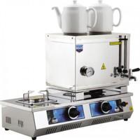 40 Model Çift Demlikli Doğalgazlı Çay Kazanı 28Lt