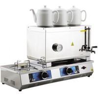 55 Model Üç Demlikli Elektrikli Ve Tüplü Çay Kazanı 33Lt