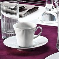 Kütahya Porselen Çisil 18 Parça 6 Kişilik Su Bardaklı Kahve Fincan Takımı