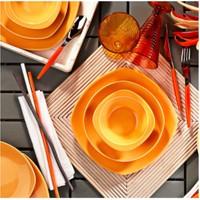 Kütahya Porselen Natura Ceram Prizma 18 Parça 6 Kişilik Sarı Yemek Takımı