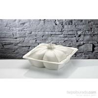 iHouse Rx06 Porselen Fırın Kabı Beyaz