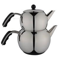 Aryıldız İris Siyah Büyük Çaydanlık Takım