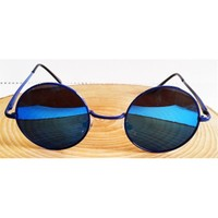 Köstebek Mavi Çerçeveli Aynalı John Lennon Gözlük