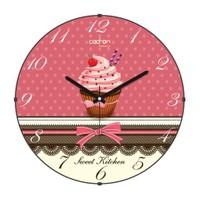 Cadran Luxury Sweet Kitchen Bombeli Cam Duvar Saati Cupcake-6