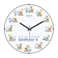 Cadran Luxury Kids Bombeli Cam Duvar Saati Baby-2