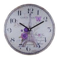 Clockmaker By Cadran Retro Vintage 30X30 Mdf Duvar Saati Cmm153