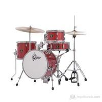 Gretsch Drums Catalina Club Jazz 4 Piece Drum Kit CC-S264X Akustik Davul Seti (Kırmızı)