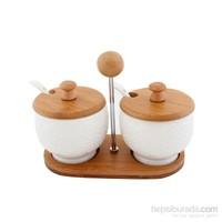 Fidex Home Bambu Porselen Baharatlık 2Li
