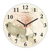 Clockmaker By Cadran Retro Vintage 30X30 Mdf Duvar Saati Cmm158