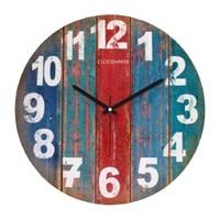 Clockmaker By Cadran Retro Vintage 30X30 Mdf Duvar Saati Cmm171