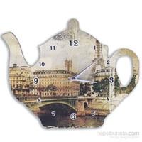 Cadran Çaydanlık Duvar Saati Eyfel Kulesi
