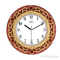 Galaxy Saray Serisi Dekoratif Duvar Saati Kırmızı