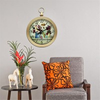 Cadran Home Köstekli Duvar Saati Çiçekler-2