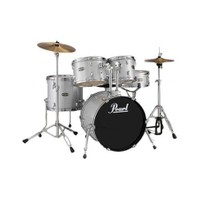 Pearl Tgxc605 C/705 Tgx 5-Pc Drum Set W/Stands & Cymbals, Chrome Parts