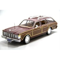 Motormax 1:24 1979 Chrysler Le Baron Town Country -Kahverengi Model Araba