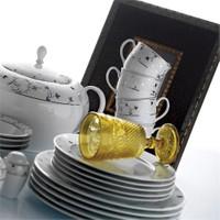 Kütahya Porselen Stella 12 Kişilik 85 ParçaDesen Yemek Takımı