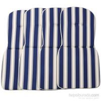 Belde Specıal 4'Lü Minder Mavi Beyaz- D4052