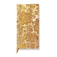 Paperblanks Midnight Gold Slim Adres - 95X180 Mm 128 Syf 1227-0