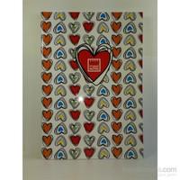 Make Notes Sert Kapaklı Renklı Kalpler D