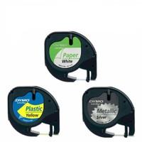 Dymo Letratag Etiket 5 Adet 59421 12M X 4Mm Yeşil Plastik Etiket